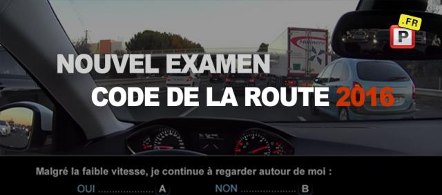 Examen code de la route 2016