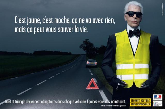 La sécurité routière avec la campagne de karl Lagerfeld